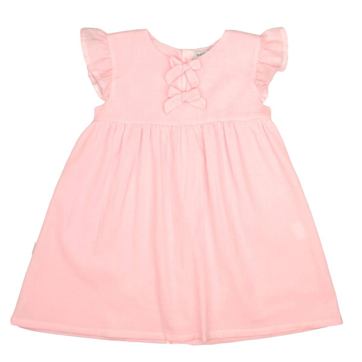 Sommerkleid mit Schleifen rosa