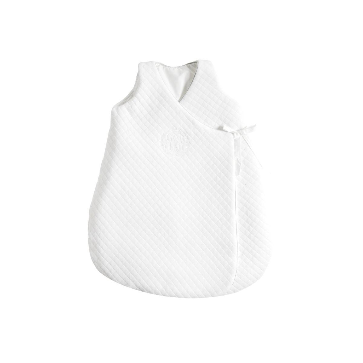 Genähter Babyschlafsack weiß
