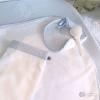 Klassisch-schicker Wickelauflagenbezug babyblau