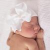 Babymütze mit weißer Schleife extra warm
