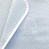 Klassisch-schicke Babydecke blau L 150 / 120 cm