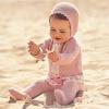 Baby Anzug 3-teilig Rosa mit Spitze und Schleife