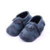 blauwe legerprint baby moccasins