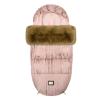 Luxus-Fußsack in Rosa mit goldenen Punkte