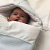 Schlafsack Angel blau gesteppt