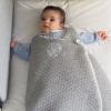 Genähter Babyschlafsack grau