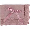 Rosa Baby Decke mit Schleife