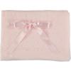 Hellrosa Baby Decke mit Schleife und Muster