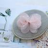 Rosa Schmetterling Haarspange mit Schleife