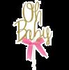 Tortenaufsatz Oh Baby mit Schleife