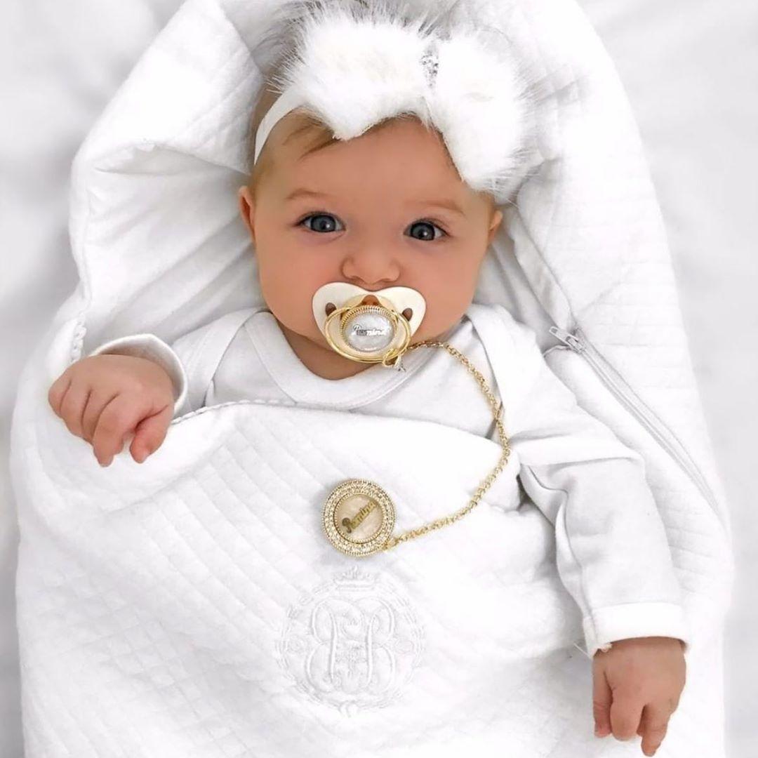 Schlafsack Angel weiß gesteppt