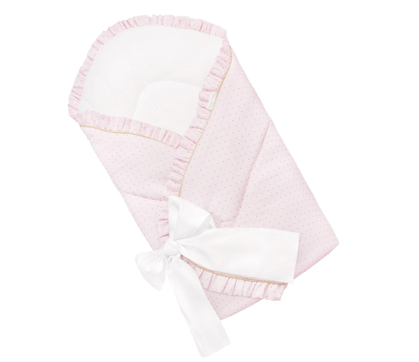 Pink Golden Glow Bow Schlafsack