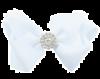 Haarspange mit Strass weiß