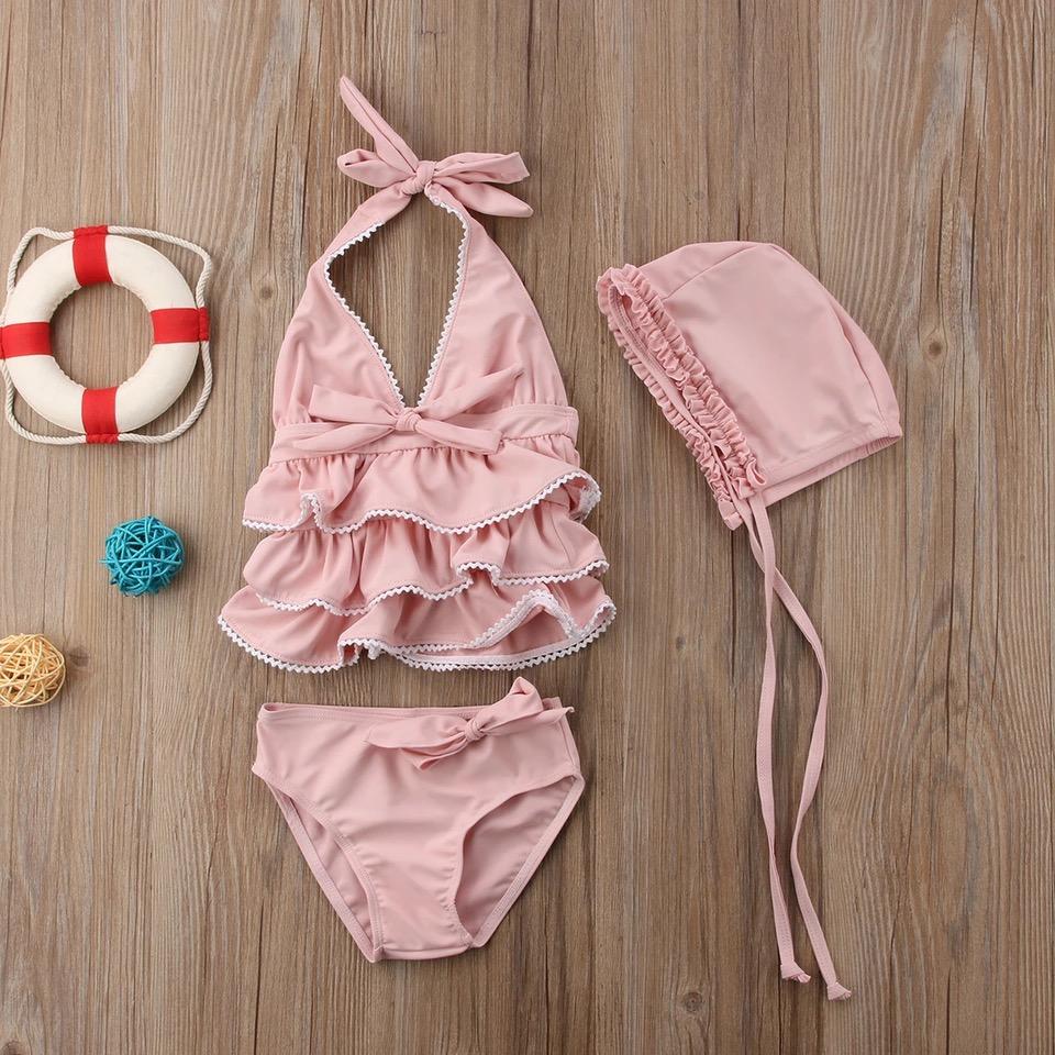 Rosa Bikini mit Bögen