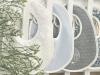Klassisch-schickes Lätzchen mit Rüschen weiß