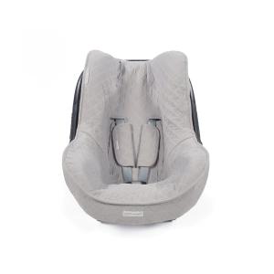 Grau gesteppter Universal-Autositzbezug
