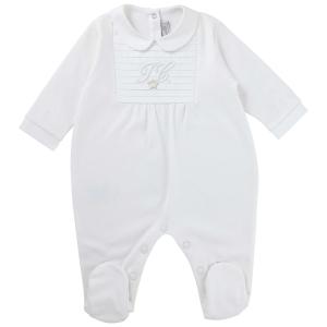 Baby-Anzug Monogramm Weiß