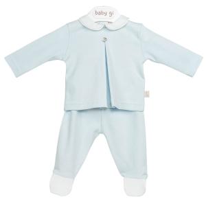 Blauer 2-teiliger Baby-Anzug