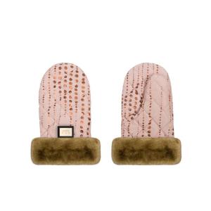 Luxus Pink mit goldenen Punkte Handschuhen