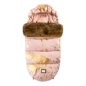 Luxuriöses Pink mit goldenem Fußsack