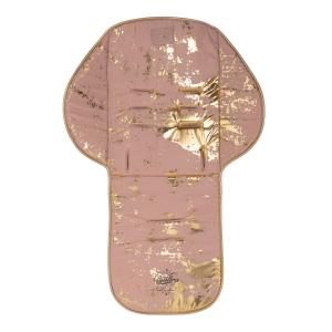 Kindersitzauflage pink-gold