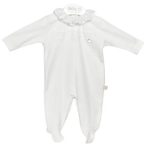 Weißer klassischer Babyanzug mit Kragen