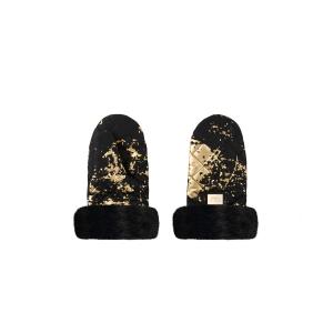 Luxus Kinderwagenhandschuhe schwarz mit Gold