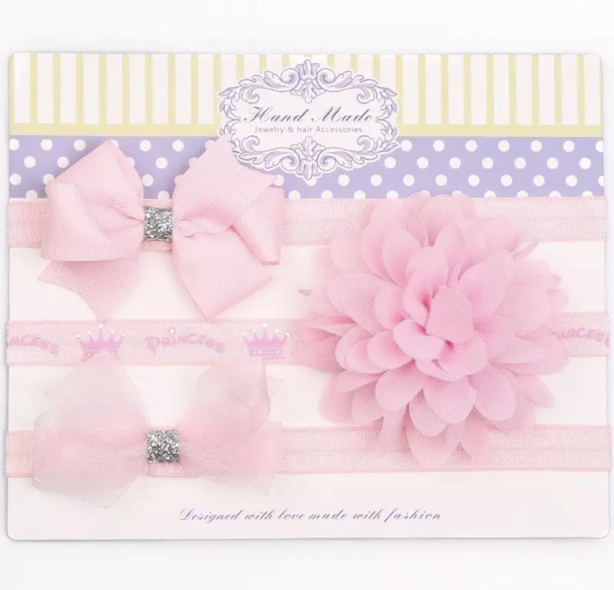 Neugeborenes Haarband mit Prinzessinnenschleife