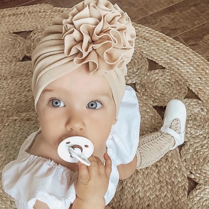 Baby Turban Hut 6-18M hellrosa