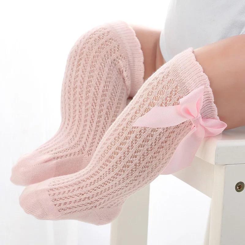 Lange Baumwollsocken rosa