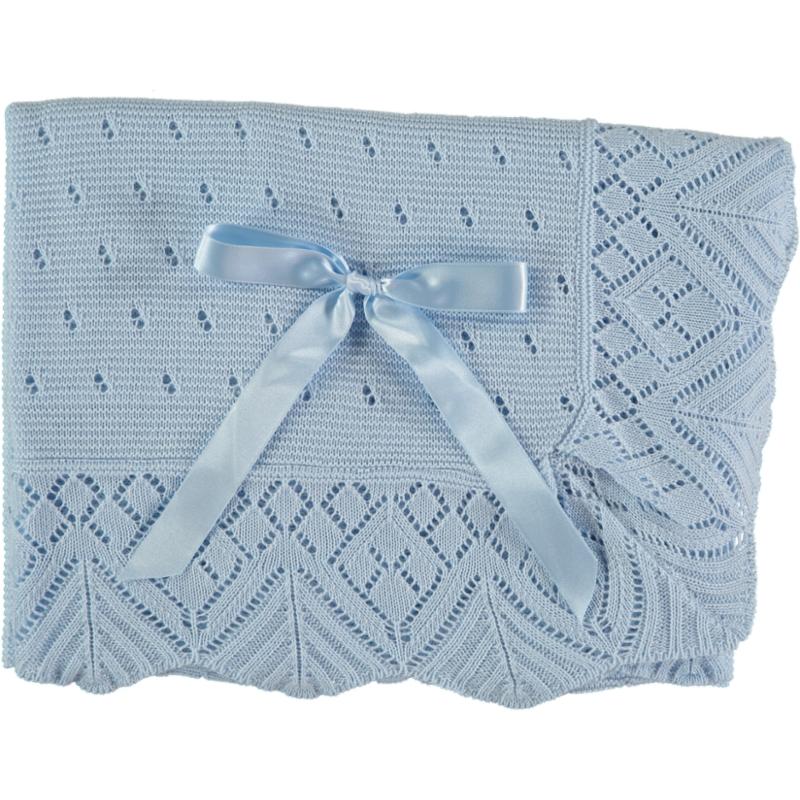 Blaue Baby Decke mit Schleife