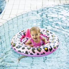 Panther-Print Babyschwimmer 0-1 Jahre Roségold