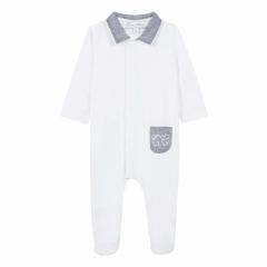Baby-Anzug Weiß mit Details