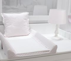 Weiß mit rosa Inlay Wickelauflage