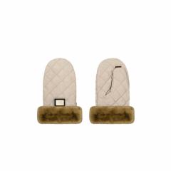 Luxus creme Diamant-Handschuhe