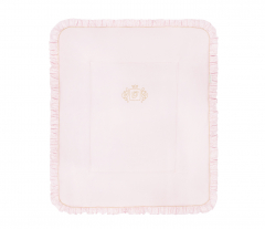 Rosa Royal Golden Glow Monogram Decke