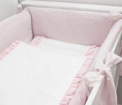 Pink Angel gesteppte Bettstoßstange