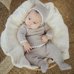 Babyanzug Aran expression nut
