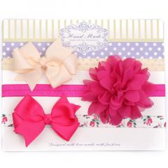 Neugeborenes Haarbänder Set mit Schleife Blume