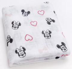 Hydrofiele doek Minnie love 120x120cm