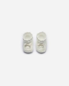 Weiße Neugeborenensocken Spitze