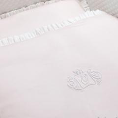 Rosa Royal Monogram Bettgarnitur