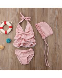 Bikini mit Schleifen rosa