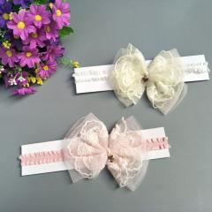 Haarband mit Spitzenschleife