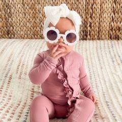 Babygrow Violet Ruffle 3M