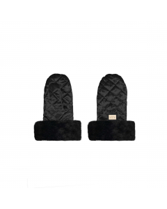 Luxus-Kinderwagen-Handschuhe aus Samt schwarz
