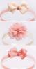 Neugeborenes Haarband mit schleife peach