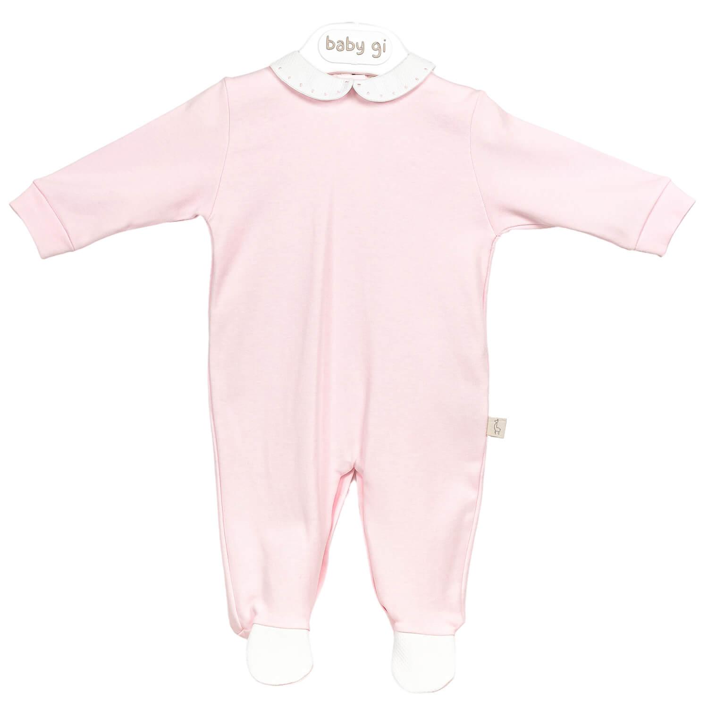 Rosa Babyanzug klassisch