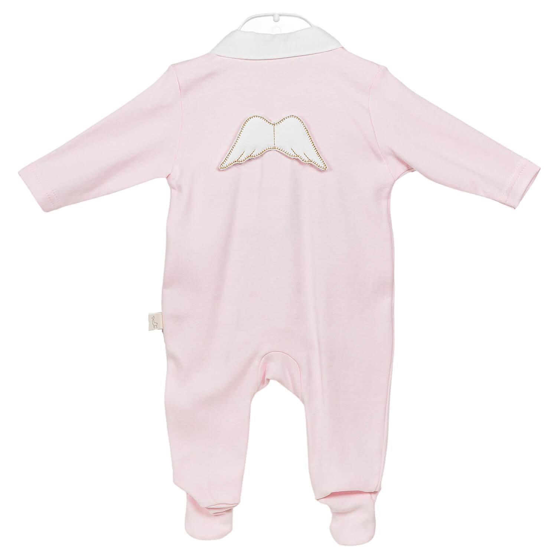 Rosa Engel Baby Anzug