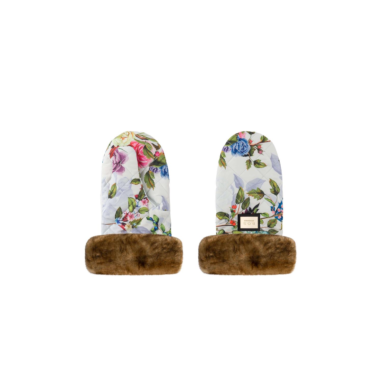 Luxus-Kinderwagenhandschuhe mit Blumenmuster